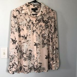 Banana Republic Floral Button Down Top